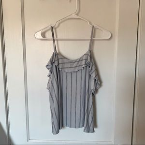 American Eagle off the shoulder ruffle top